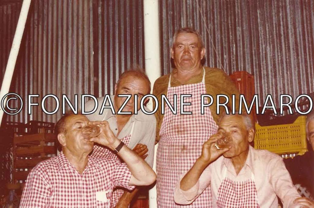 Da sinistra Rossi Amato, Soffiatti Libero, Coatti Ennio e Coatti Paolo