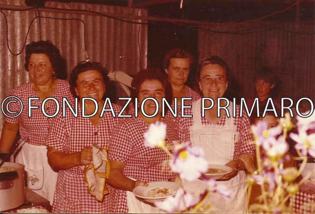 Da sinsitra Cristina Taglioni, Lina Dal Buono, Angelina Cillani, Vilma Quattrini, Erdenia Ravaglia