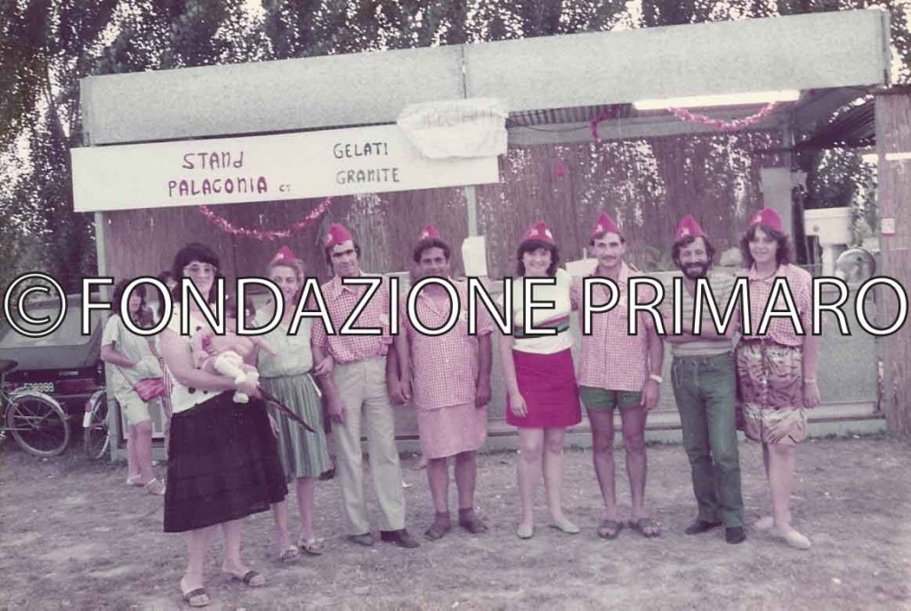 Festa 1984, il gruppo di Palagonia (Catania) che per diversi anni ha partecipato alla Festa di Filo con uno stand
