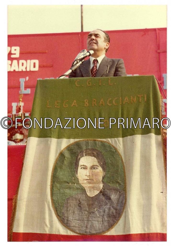 Filo-(RA)-17-maggio-1979.-30°-anniversario-della-morte-di-Maria-Margotti.-Rinaldo-Scheda-oratore-ufficiale,-segretario-della--Camera-del-Lavoro-di-Bologna-nel-1949